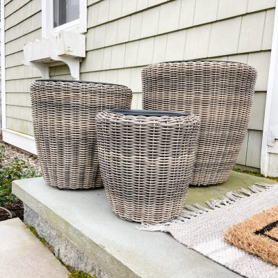 Large Affordable Entryway Planters