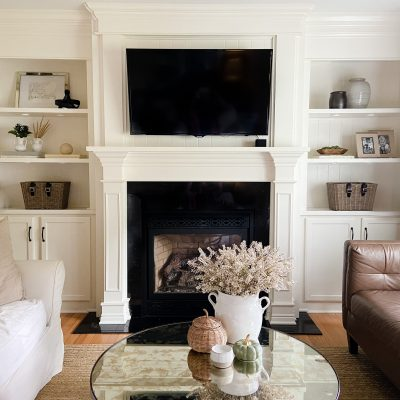 Simple Living Room Fall Touches